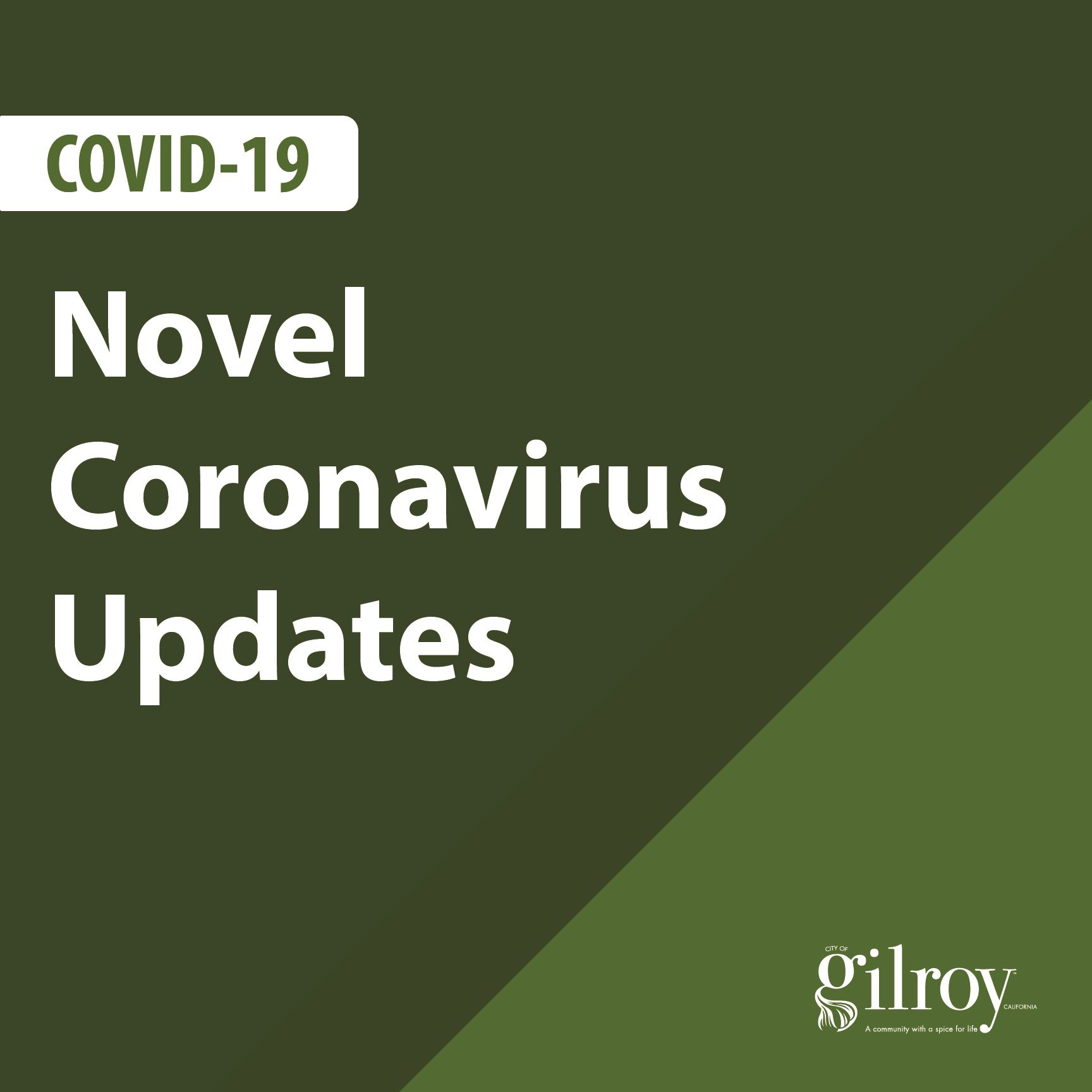 Plain Image with City logo and text stating Coronavirus update