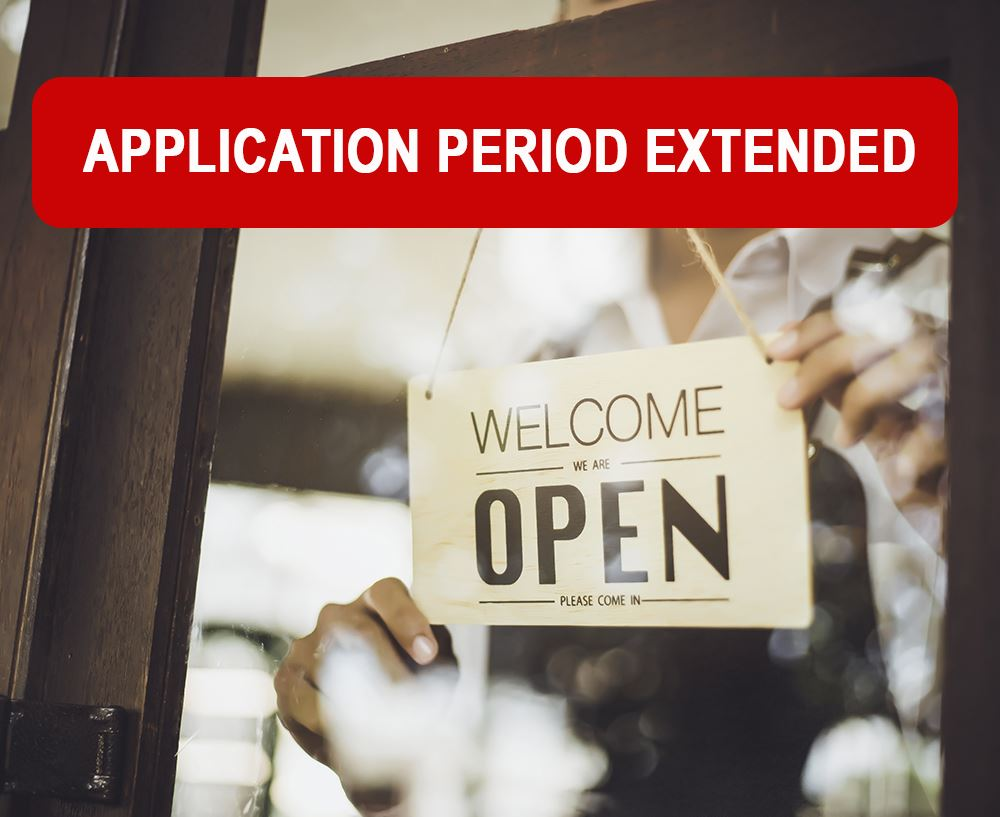 Small Business Sign Open Extended
