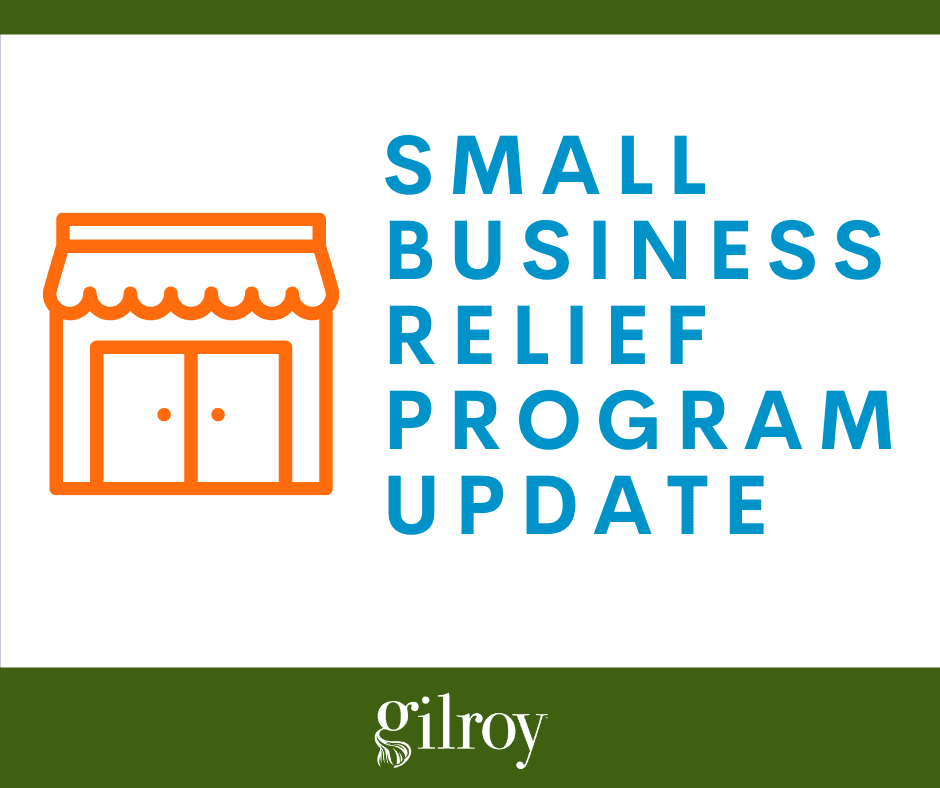 Small Business Relief Program Update