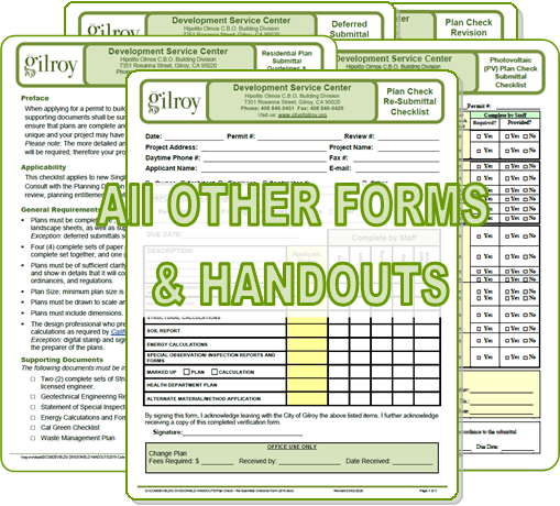 All Other Forms and Handouts Opens in new window